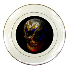 Russian Flag Skull Porcelain Plates by Valentinaart