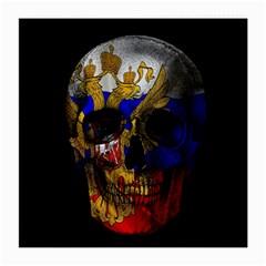 Russian Flag Skull Medium Glasses Cloth (2 Side) by Valentinaart