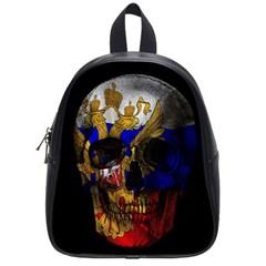 Russian Flag Skull School Bags (small)  by Valentinaart