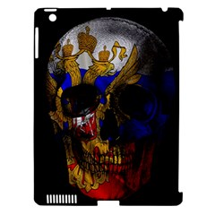 Russian Flag Skull Apple Ipad 3/4 Hardshell Case (compatible With Smart Cover) by Valentinaart