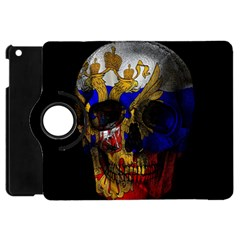 Russian Flag Skull Apple Ipad Mini Flip 360 Case by Valentinaart