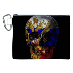 Russian Flag Skull Canvas Cosmetic Bag (xxl) by Valentinaart