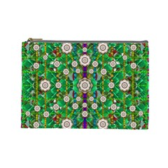 Pearl Flowers In The Glowing Forest Cosmetic Bag (large)  by pepitasart