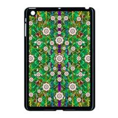 Pearl Flowers In The Glowing Forest Apple Ipad Mini Case (black) by pepitasart