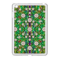 Pearl Flowers In The Glowing Forest Apple Ipad Mini Case (white) by pepitasart