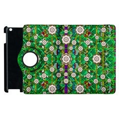 Pearl Flowers In The Glowing Forest Apple Ipad 2 Flip 360 Case by pepitasart