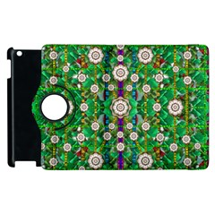 Pearl Flowers In The Glowing Forest Apple Ipad 3/4 Flip 360 Case by pepitasart