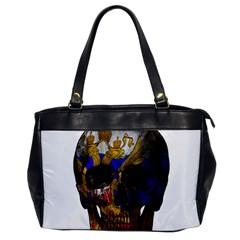 Russian Flag Skull Office Handbags by Valentinaart