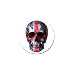 Uk Flag Skull Golf Ball Marker (4 Pack) by Valentinaart
