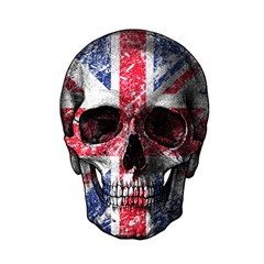 Uk Flag Skull Shower Curtain 48  X 72  (small)  by Valentinaart