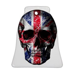 Uk Flag Skull Bell Ornament (two Sides) by Valentinaart