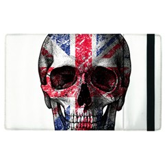 Uk Flag Skull Apple Ipad 3/4 Flip Case by Valentinaart