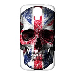 Uk Flag Skull Samsung Galaxy S4 Classic Hardshell Case (pc+silicone) by Valentinaart