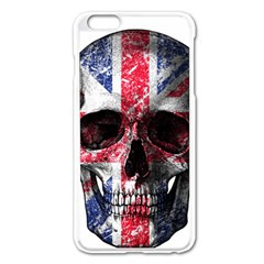 Uk Flag Skull Apple Iphone 6 Plus/6s Plus Enamel White Case by Valentinaart