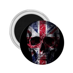 Uk Flag Skull 2 25  Magnets by Valentinaart