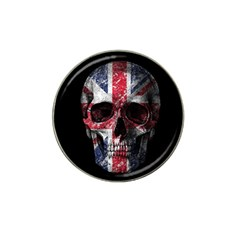 Uk Flag Skull Hat Clip Ball Marker by Valentinaart