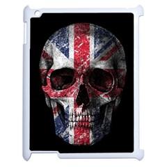 Uk Flag Skull Apple Ipad 2 Case (white) by Valentinaart