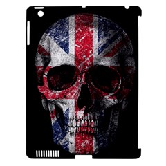 Uk Flag Skull Apple Ipad 3/4 Hardshell Case (compatible With Smart Cover) by Valentinaart