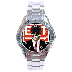 Dualism Stainless Steel Analogue Watch by Valentinaart