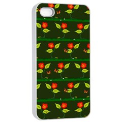 Plants And Flowers Apple Iphone 4/4s Seamless Case (white) by linceazul