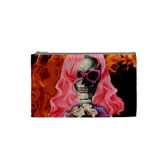 Bride From Hell Cosmetic Bag (small)  by Valentinaart