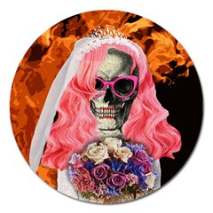 Bride From Hell Magnet 5  (round) by Valentinaart