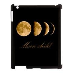 Moon Child Apple Ipad 3/4 Case (black) by Valentinaart