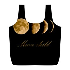 Moon Child Full Print Recycle Bags (l)  by Valentinaart