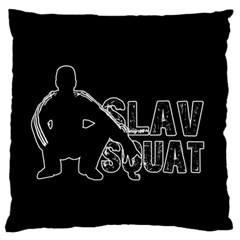 Slav Squat Large Flano Cushion Case (one Side) by Valentinaart