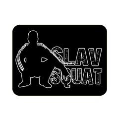 Slav Squat Double Sided Flano Blanket (mini)  by Valentinaart