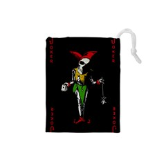Joker  Drawstring Pouches (small)  by Valentinaart