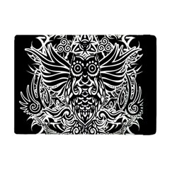 Tattoo Tribal Owl Apple Ipad Mini Flip Case by Valentinaart