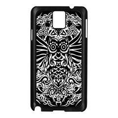 Tattoo Tribal Owl Samsung Galaxy Note 3 N9005 Case (black) by Valentinaart