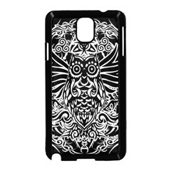 Tattoo Tribal Owl Samsung Galaxy Note 3 Neo Hardshell Case (black) by Valentinaart