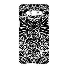 Tattoo Tribal Owl Samsung Galaxy A5 Hardshell Case  by Valentinaart