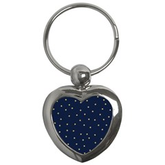Navy/gold Stars Key Chains (heart)  by Colorfulart23