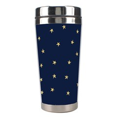 Navy/gold Stars Stainless Steel Travel Tumblers by Colorfulart23