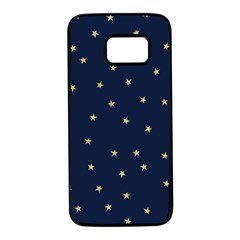 Navy/gold Stars Samsung Galaxy S7 Black Seamless Case by Colorfulart23
