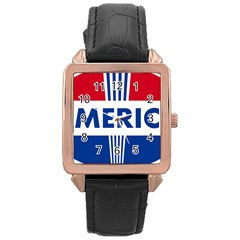 America 1769750 1280 Rose Gold Leather Watch  by Colorfulart23