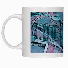 Another Modern Moment Aqua White Mugs by MoreColorsinLife
