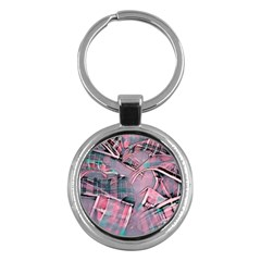 Another Modern Moment Pink Key Chains (round)  by MoreColorsinLife