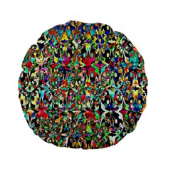 Psychedelic Background Standard 15  Premium Flano Round Cushions by Colorfulart23