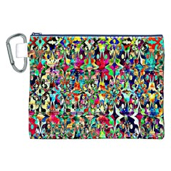 Psychedelic Background Canvas Cosmetic Bag (xxl) by Colorfulart23