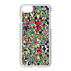 Psychedelic Background Apple Iphone 7 Seamless Case (white) by Colorfulart23