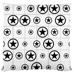 Army Stars Large Flano Cushion Case (two Sides) by linceazul