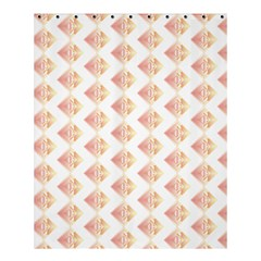 Geometric Losangle Pattern Rosy Shower Curtain 60  X 72  (medium)  by paulaoliveiradesign