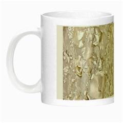 Off White Lace Pattern Night Luminous Mugs by paulaoliveiradesign