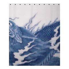 Blue Chinese Dragon Shower Curtain 60  X 72  (medium)  by paulaoliveiradesign