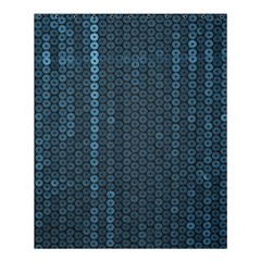Blue Sparkly Sequin Texture Shower Curtain 60  X 72  (medium)  by paulaoliveiradesign