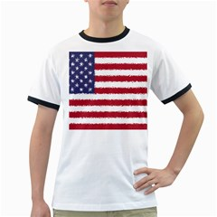 Flag Of The United States America Ringer T Shirts by paulaoliveiradesign
